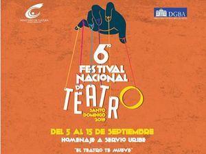 Programación del VI Festival Nacional de Teatro Santo Domingo 2019