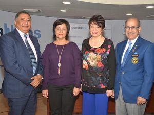 José Miguel Gómez, Soraya Lara de Mármol, Aspasia de Gómez Achécar y Manuel Gómez Achécar.