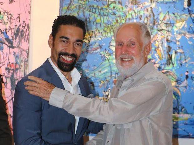 Artista Oscar Abreu y Stephen Kaplan, rector Altos de Chavón.