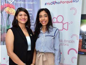 Maureen Tejeda y María E. Jiménez.