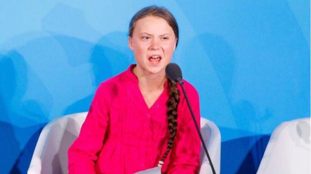 Greta, un meteorito contra el cambio climático, impacta en Naciones Unidas