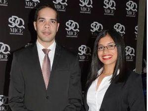 Raúl Melgen y Edilly Rodríguez.