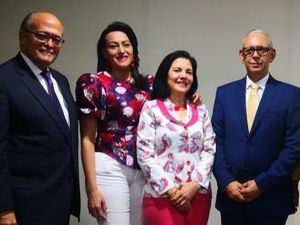 José Silié Ruiz, Rafaela Matos, Rosel Fernández y Elbi Morla.