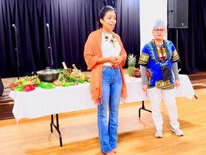 Rosario Ubiera Minaya y Xiomarita Pérez.