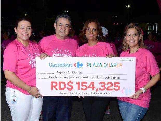 Carrefour realiza segunda versión del Zumbathon, por la lucha contra el cáncer de mama