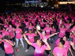 El evento fue realizado en el parqueo de Carrefour Plaza Duarte en el marco del Día Mundial de la Lucha contra el Cáncer de Mama.