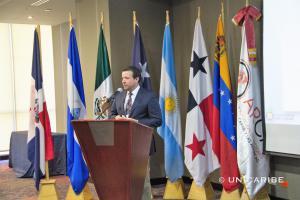 El Maestro José Alejandro Aybar Martín, Rector de la Universidad del Caribe de la República Dominicana durante su participación en el Cónclave Internacional donde fue escogido vicepresidente del ARCA