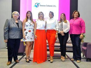 Olga Gómez Cuesta, María Báez, Marbel Lugo, Cristina Alba, Alenny Garabito, y Johanny Gil.