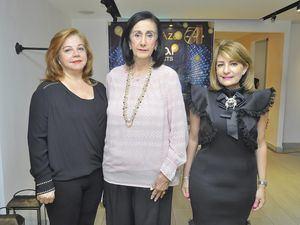 Carmen de Medina, Rosalia Alvarez y Gianna Batista.