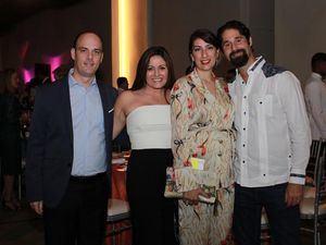 Denis Vicini, Ariana de Vicini, Rosadela Serulle y Silvan Ridel.