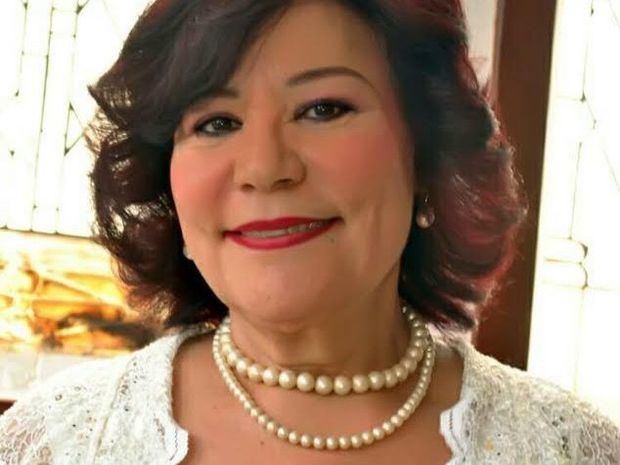 Periodista Cándida Ortega.