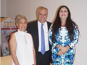 Jannethe Aracena, Pedro Domínguez Brito y Elizabeth Hazim.