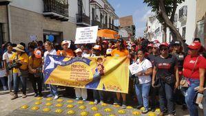 Marcha de las mujeres en Santo Domingo Archivo.