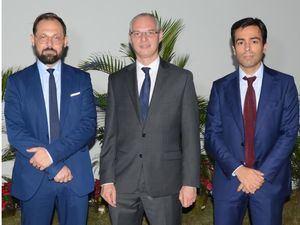 Tomas Plisson, Valery Vicini y Julio Adrien.