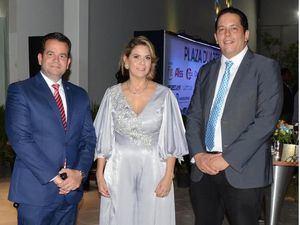Randy Grullón, Piroska Peña y Juan Octavio Mateo.