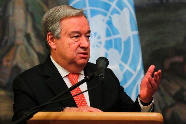 Secretario general de la ONU, Antonio Guterres.