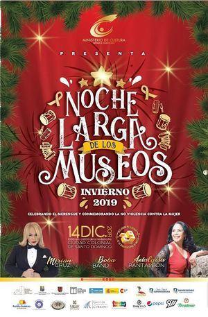 """Invitación del evento """"Noche Larga de los Museos, versión invierno 2019""""."""
