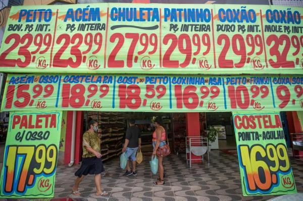 Vista hoy de un supermercado en Brasilia (Brasil).