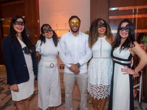 Esther Zeledón, Marli Tamayo, Erick Conde,  Brenda Silverio y Karen Pannocchia