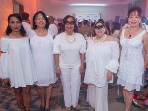 Inmaculada Cruz Hierro, Mayra Puello, Zoila Puello, Mirna Pimentel y Nelly Mota.