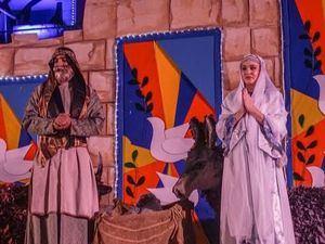 """""""El Milagro de la Navidad"""" es un nacimiento viviente que recrea el nacimiento del Niño Dios, representado por los empleados del Banco Popular y sus hijos."""
