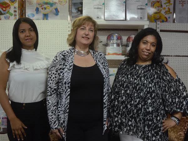 Madonna Vargas, Yessenia Brisso y Amelia Nader.