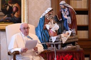 El papa Francisco en la audiencia general del miércoles, 16 de diciembre.