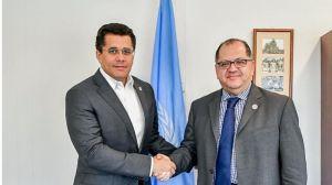 David Collado en compañía de Luis Felipe López, director regional del PNUD