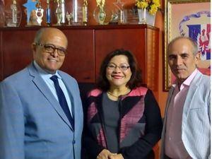 José Silié Ruiz, Ismaela Tavares y Bismark Galán.