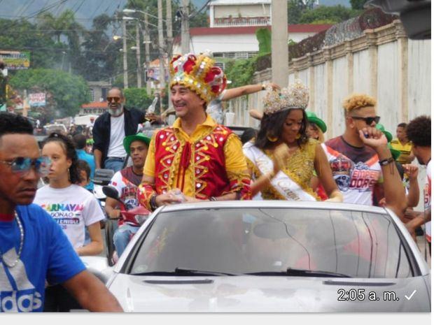 Gran multitudinaria manifestación de alegría carnavalesca se sintió en Bonao