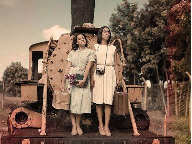 Las actrices Arlyne Read Rodríguez y Laura Gisselle.
