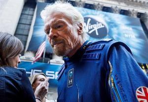 En la imagen un registro de Richard Branson, fundador de Virgin Galactic, en Nueva York (NY, EE.UU.).