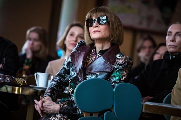 La editora en jefe de la revista Vogue y directora creativa de Condé Nast, Anna Wintour.