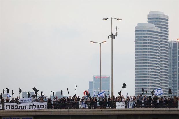 Décima semana consecutiva de protestas para pedir la dimisión de Netanyahu