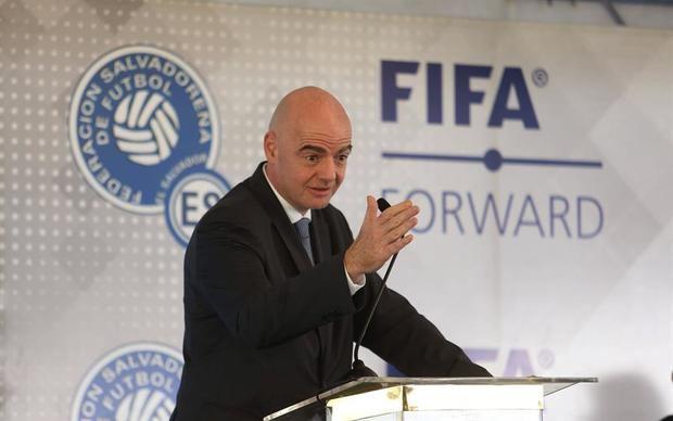 En la imagen, el presidente de la FIFA, el suizo-italiano Gianni Infantino.