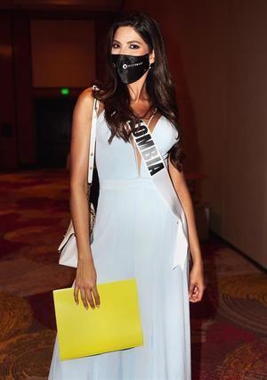 Miss Colombia 2020, Laura Victoria Olascuaga, a su llegada el 7 de mayo al Seminole Hard Rock Hotel & Casino en Hollywood, Florida (EE.UU.).