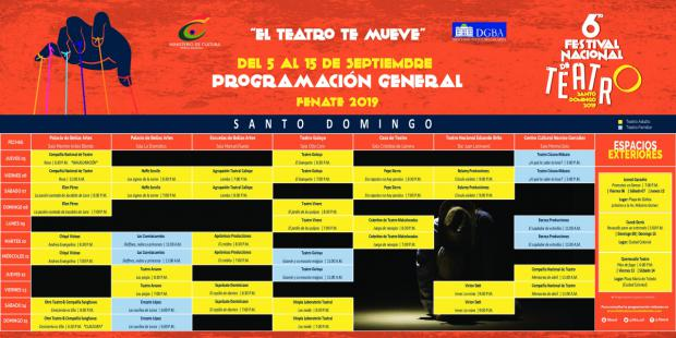 Programa 6to Festival Internacional de teatro.