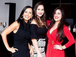 Mónica Romero, Belisa Tapia y Mariandrea Hernández.