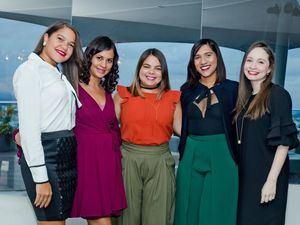 Joanna Cuello, Katherine Pérez, Jeanny Rodríguez, Elizabeth Reyes y María Gabriella Taveras.