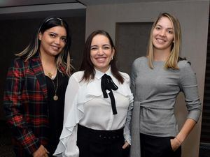 Cornelia Cerda, Nathalie Díaz y Kirshe Piñeiro.