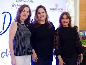 Jacqueline Leyba, Sophie Santoni y Carmen Guzmán.