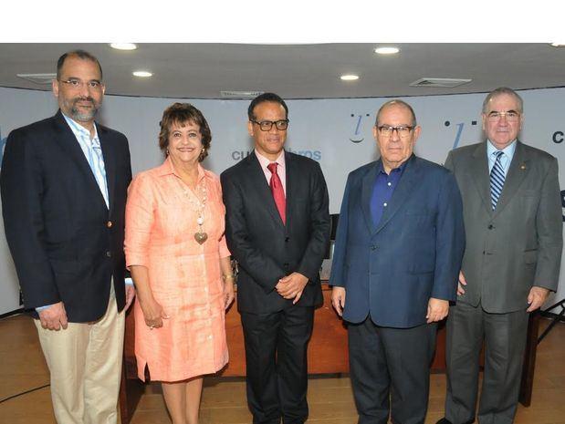 Olivo Rodríguez Huerta, Verónica Sención, Basilio Belliard, David Álvarez Martin y Manuel García Arévalo.
