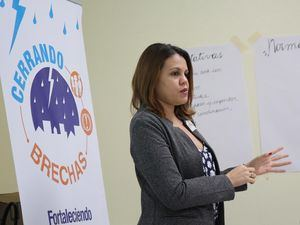 Melanie Benoit, Oficial de Gestion de Riesgos Plan International.