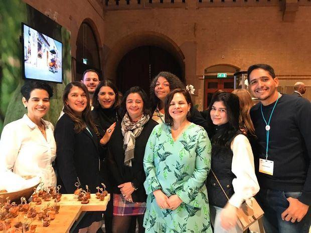 Los participantes en la delegación dominicana  en el Salón del Chocolate.