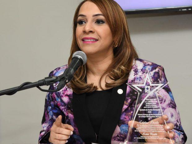 Karen Ricardo, dirigente Secretaría de Asuntos Municipales PLD