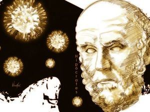 Hipócrates, padre de la medicina.