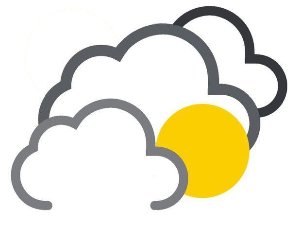 Nublados en la tarde con lluvias dispersas hacia algunas localidades