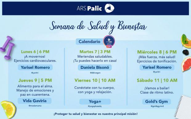 Boletín Semana de Salud y Bienestar, ARS Palic.
