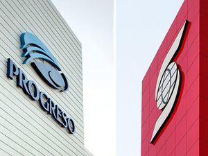 Fachadas Bancos Scotiabank y Progreso.