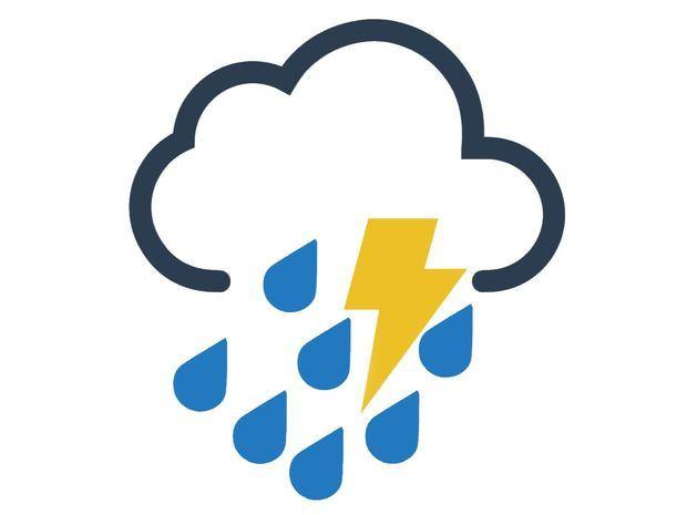 Lluvias moderadas esta tarde en la porción noroeste del país